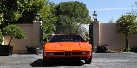 1980 BMW M1 Supercar front view.