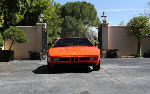 1980 BMW M1 Supercar front view.