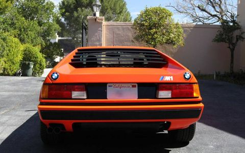 1980 BMW M1 Supercar rear, showing blingtastic BMW roundel treatment.