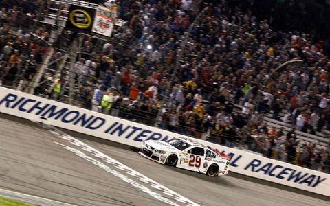 NASCAR Sprint Cup Series driver Kevin Harvick was first across the finish line at Richmond on Saturday.