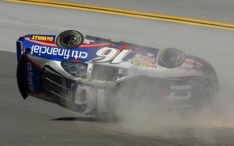 Matt Kenseth car goes airborne at Talledega