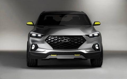 Hyundai introduced the Santa Cruz urban lifestyle pickup truck at the 2015 Detroit auto show