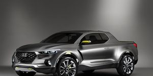 Hyundai introduced the Santa Cruz urban lifestyle pickup truck at the 2015 Detroit auto show