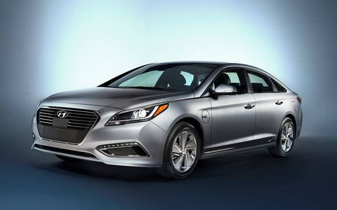 The 2016 Hyundai Sonata Plug-in Hybrid was introduced at the Detroit auto show