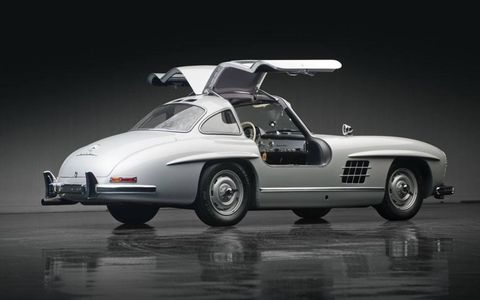 Gullwings go for big bucks these days, and this '55 was no exception at $1,155,000.