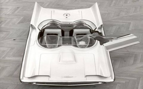 ... the Lincoln Futura show car was a hit, with is wide wide, double-bubble canopy and tall tailfins. The Futura never made it to production. But you did see the car again ...