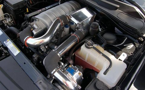 Engine, Automotive design, Automotive engine part, Personal luxury car, Automotive air manifold, Luxury vehicle, Automotive super charger part, Performance car, Kit car, Hood,
