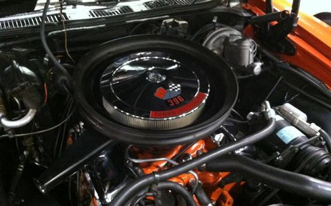 396 cubic-inch V8 under the hood of an El Camino.