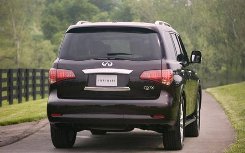 Additional options for the 2013 Infiniti QX56  include climate-controlled front seats, headlight washers, and even hydraulic body motion control.