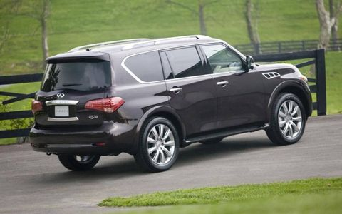 The full frame 2013 Infiniti QX56 receives an EPA estimated 14 mpg in the city and 16 mpg on the highway.