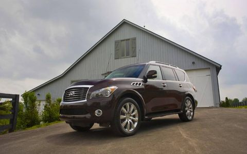 The overall footprint of the 2013 Infiniti QX56 is massive, resembling more of a luxury tank.