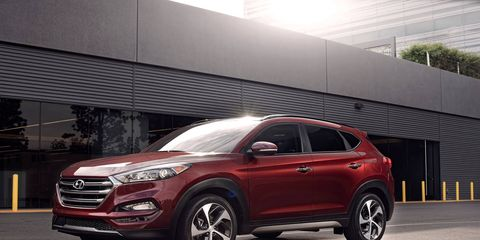 Hyundai unveiled its all-new Tucson crossover utility vehicle at the New York auto show.