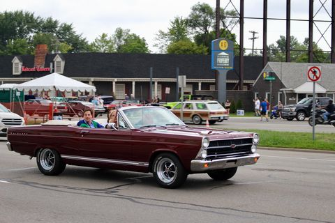 There's no better weather for this 1967 Ford Fairlane convertible than this year's Dream Cruise.
