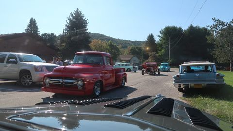 This Ford F-100 sported a more modern restyling than the others in the pack. But, that's not a bad thing.