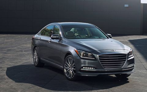 The Genesis impresses with good power from the V6 and a quiet, solid ride.