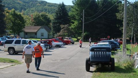 The Hot Rod Invasion lives up to its name when around 40 hot rods and classic cars stopped by the Empire Hill Climb.