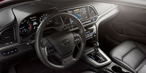 The Hyundai Elantra offers leather, Apple CarPlay and Android Auto and a handful of safety features.