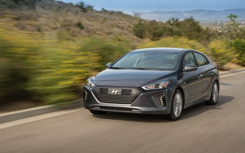 The three different 2017 Hyundai Ioniq models made a US debut at the New York International Auto Show.