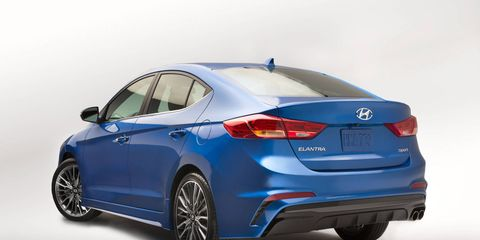 The 2017 Hyundai Elantra Sport will go up against the VW Jetta GLI, Honda Civic Si and other sporty compacts.