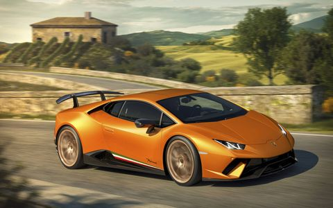 The Lamborghini Huracán Performante starts at $274,390.