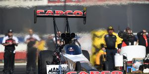 Steve Torrence, who went unbeaten in the Countdown to the Championship last year en route to the NHRA Top Fuel championship, was quickest on Friday at Pomona.