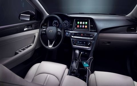 The 2018 Sonata, introduced at the New York auto show, comes with Blind Spot Detection and Rear Cross-Traffic Alert standard, lane keeping assist is optional.