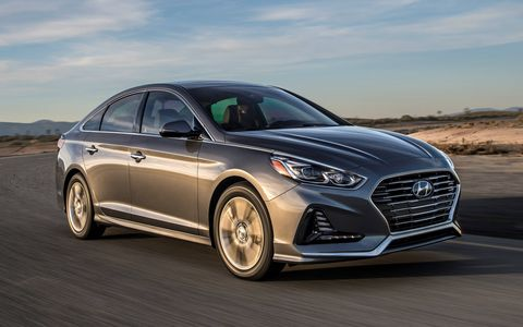 The 2018 Hyundai Sonata gets a redesigned front and rear end to keep it looking fresh.