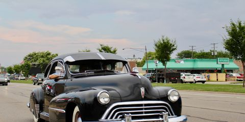 1947 Oldsmobile at the 2018 Woodward Dream Cruise