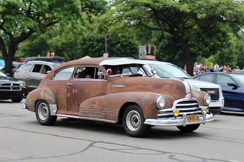 1947 Pontiac at the 2018 Woodward Dream Cruise