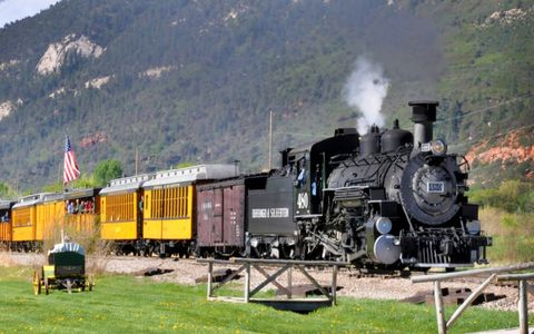 Old 480 hauling another load of tourist up the canyon to Silverton.