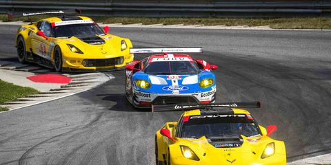 Oliver Gavin and Tommy Milner pilot Corvette Racing to its 100th victory in sports cars on Saturday at Lime Rock Park.