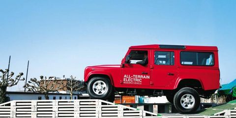 The powertrain delivers plenty of urge, and off the line the Electric Defender feels as rapid as a conventionally powered version.