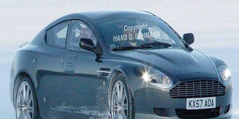 The Aston Martin Rapide undergoes winter testing.