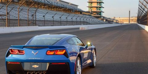 The 2013 Indy 500 pace car Chevy Corvette Stingray.