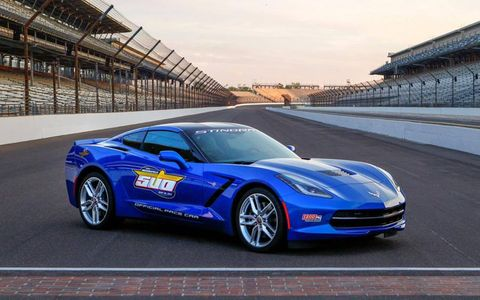 The new Corvette Stingray 2013 Indy 500 pace car.