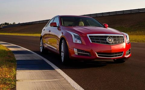 The 2013 Cadillac ATS receives an EPA estimated 22 mpg overall; we observed 20.6 mpg.