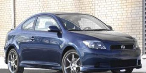 The Indigo Ink Pearl painted Scion tC coupe is the most recent addition to our long-term fleet.