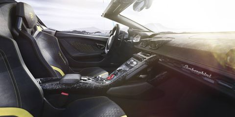 Lamborghini updated the steering, suspension and all-wheel-drive system on the Huracan Performante Spyder.