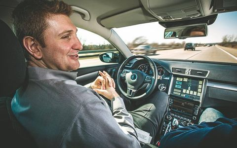 Ibro Muharemovic is at ease in Continental's Passat after logging more than 16,000 miles behind the wheel.