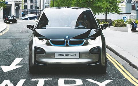 Conceived primarily for city use, the i3 is 4.7 inches longer and 5.2 inches higher than a Mini Cooper.