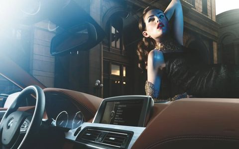 SEXY ELEGANCE // Attractive models and a BMW 650i Gran Coupe are a good combination, especially when they are shot by renowned photographer Uwe Duettmann in a burlesque fashion.