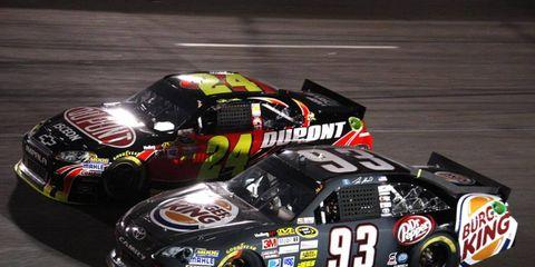 2012 NASCAR Richmond: Travis Kvapil and Jeff Gordon