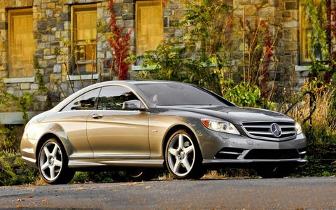 The 2013 Mercedes-Benz CL550 4Matic is powered by a 4.6-liter, twin-turbocharged V8 making 429 hp and 516 lb-ft of torque.