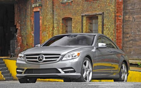 The 2013 Mercedes-Benz CL550 4Matic's power is sent to all-four wheels through a seven-speed automatic transmission.