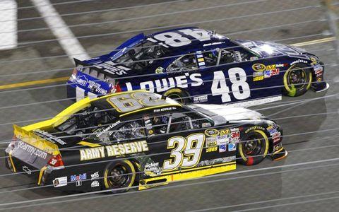 2012 NASCAR Richmond: Ryan Newman and Jimmie Johnson