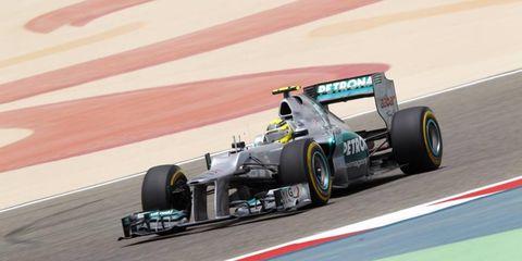 2012 Bahrain Grand Prix: Nico Rosberg, Mercedes F1 W03.