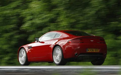 The 2013 Aston Martin V8 Vantage comes in at a base price of $121,225 with our tester coming in at $131,390.
