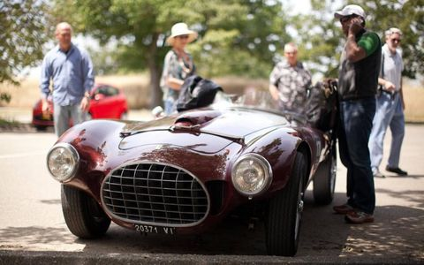 The Fontana-bodied Ferrari 212 Barchetta draws a crowd like fruitbats to...er, fruit.