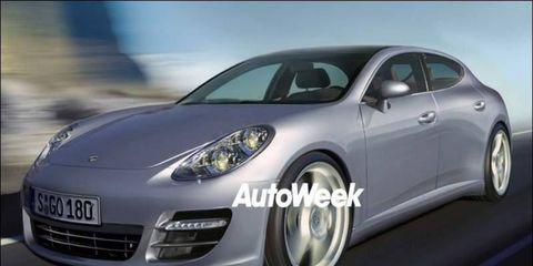 Computer illustration of 2010 Porsche Panamera.