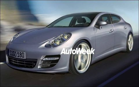 Computer illustration of 2010 Porsche Panamera.